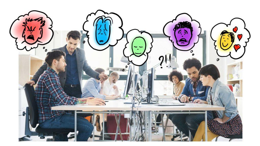 émotions au bureau